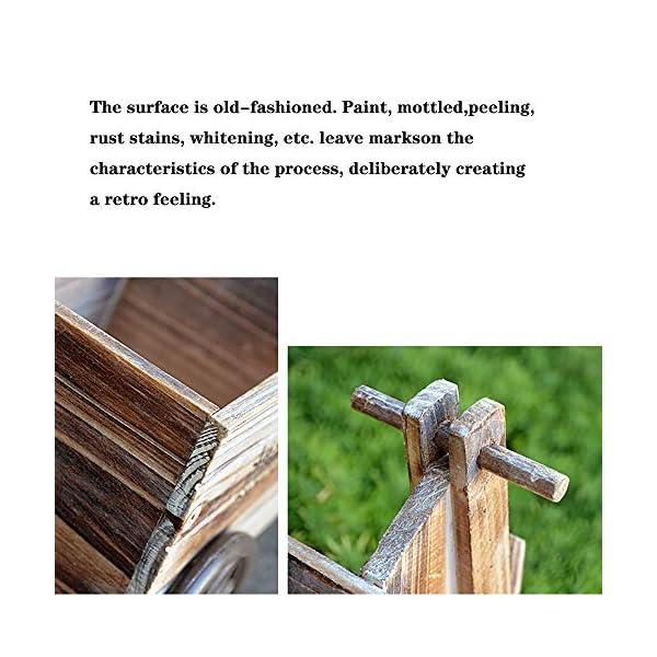 Vintage PiccoloCarretti A Mano in Legno Naturale di Fiori Vasca, Orto sul Balcone Europeo Giardino di Casa Decorazione… 5 spesavip