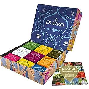 Pukka Coffret Sélection, Idée cadeau, Sélection de Thés et d'Infusions Biologiques et Ayurvédiques Issus du Commerce…
