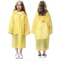 VCOSTORE Chubasquero para niños, Poncho de Lluvia de Color Capucha sin Arrugas Ropa de Lluvia para niños Niñas de 6 a 12…