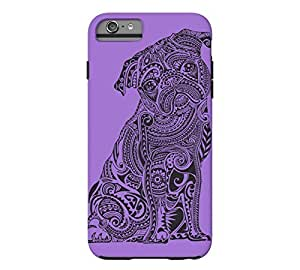Polynesian Pug iPhone 6 Plus Amethyst Tough Phone Case - Design By Humans