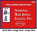 National Mah Jongg League 2018 Large Size Scorecard