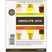 Absolute Java, Student Value Edition Plus MyProgrammingLab with Pearson eText -- Access Card Package (5th Edition) by Walter Savitch (2012-07-22)