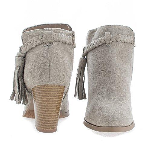 Western Dusk Stablet Høyt Hæl Ankel Boots Claysued