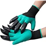 SigmaGo Garden Genie Gloves with Fingertips - Gardening Gloves Easy to Dig and Plant - Protective Digging Gloves with Left and Right Hand Claws Safe for Rose Pruning - As Seen On TV (2 Claws)
