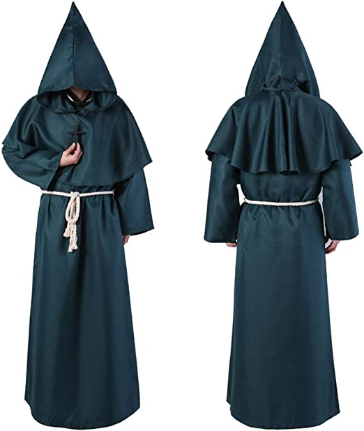 HUOLEO Halloween Disfraces, Medieval Capa Bata Capa Pareja Juego ...