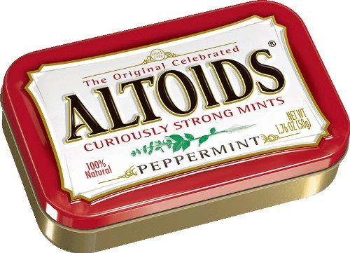 Altoids Curiously Strong Mints, Peppermint, 1.76-Ounce Ti...