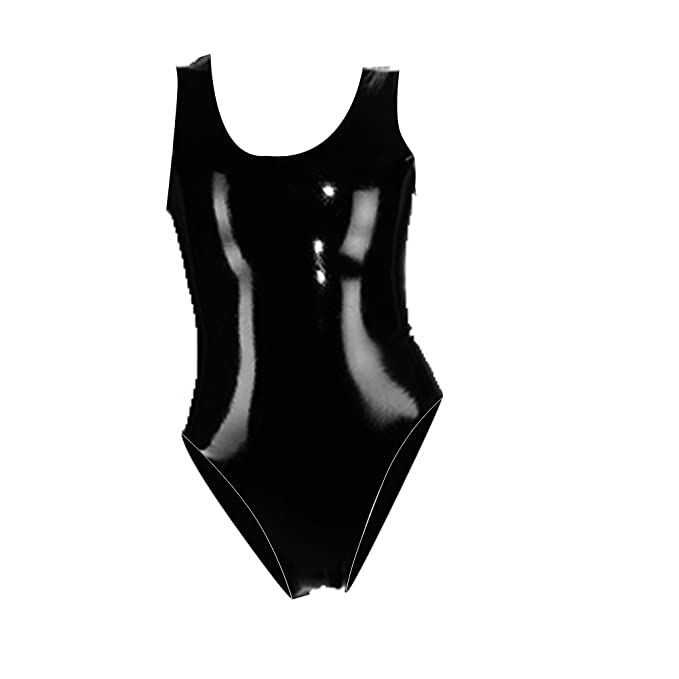 Amazon.com: Látex de hule ecosplay Gummi traje negro body ...