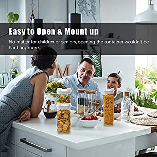 Numyton Airtight Food Storage Container Set of 4 with Lids made by Durable BPA-free Plastic for Keeping Food Dry & Fresh