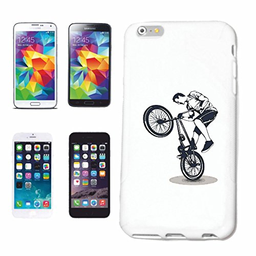 "cas de téléphone iPhone 6S ""BMX VÉLO MOTOCROSS FREESTYLE Chopper BIKE FREESTYLE VÉLO"" Hard Case Cover Téléphone Covers Smart Cover pour Apple iPhone en blanc"