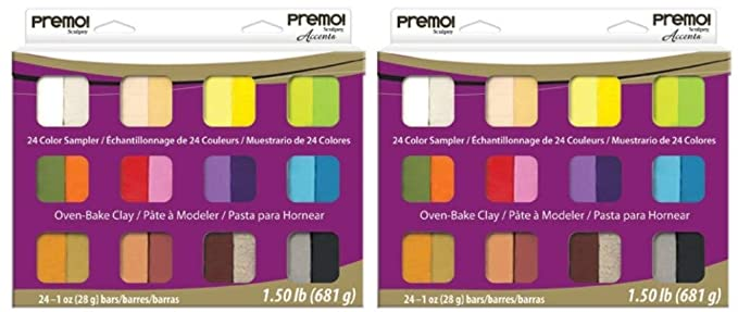 Amazon Polyform Premo Clay Sampler Pack Assorted Colors 24 Pack
