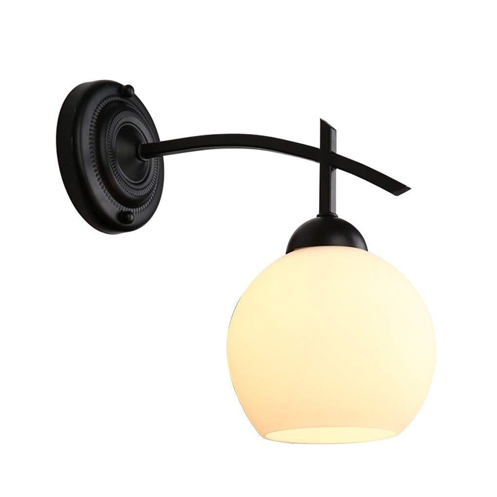 Xiao Yun    American Village Schlafzimmer Nacht Led Einzelkopf Nordic Einfache Wohnzimmer Studie Korridor Gang Spiegel Beleuchtung E27 Nachttischlampe (Farbe  Single)