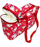 EIO® Multi Purpose Baby Diaper Mother Bag with 2 Bottle Holders - Keep Baby Bottles Warm (Red)