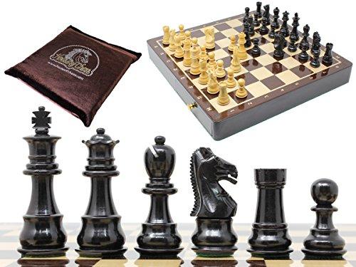 Chess Set Ebony - House of Chess - Ebony Wood / Boxwood Chess Set Pieces Galaxy Staunton 3