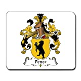 Petter Family Crest Coat of Arms Mouse Pad