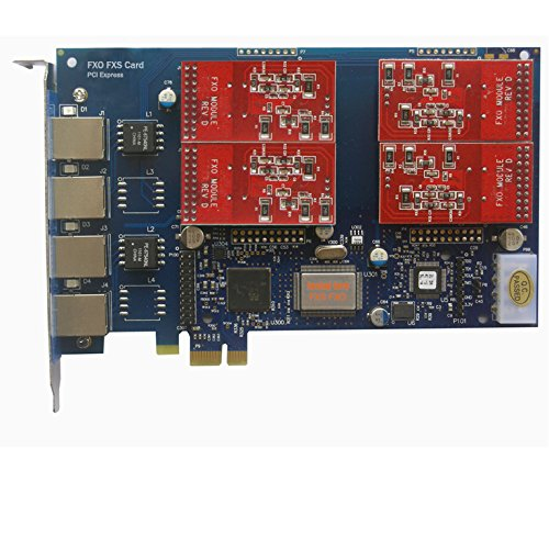 Appliance Asterisk Pbx (Analog FXO Card with 4 FXO Ports,PCI Express (PCI-E) Connector,For Issabel ,Freepbx,AsteriskNow tdm410e tdm400e)