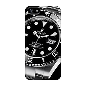 Bumper Hard Phone Cases For Apple Iphone 5/5s (vbk10832DWhv) Unique Design Colorful Rolex Submariner 116610 Watches Classic Skin
