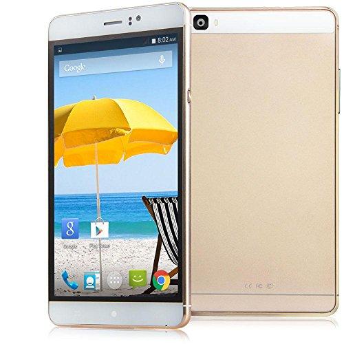 Padcod Unlocked 3G Smartphone,6 inch IPS Screen Android 4.4.2 cellPhone,MTK6572 Dual Core CPU,512MB RAM 4GB ROM,Dual SIM,Dual Camera,WIFI GPS G-Sensor SIM-Free 2G/3G 4800mAh Battery (Gold)