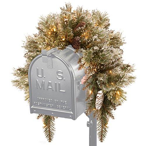 National Tree Glittery Bristle Pine Mailbox Swag