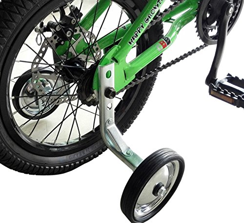 CHILDHOOD Iron Rubber Bike Training Wheels for Kids Girls Boys(14 to 18 inch) (Boys 18inch Bicycle)
