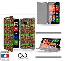 Construction Terrain Grass Heart Map - Jeux Collection Pattern Funda de Cuero para Nokia Lumia 930 Flip Case Cover (Estuche) - FUNDA SOPORTE / PU Cuero - Accesorios Case Industry Smart Magnet