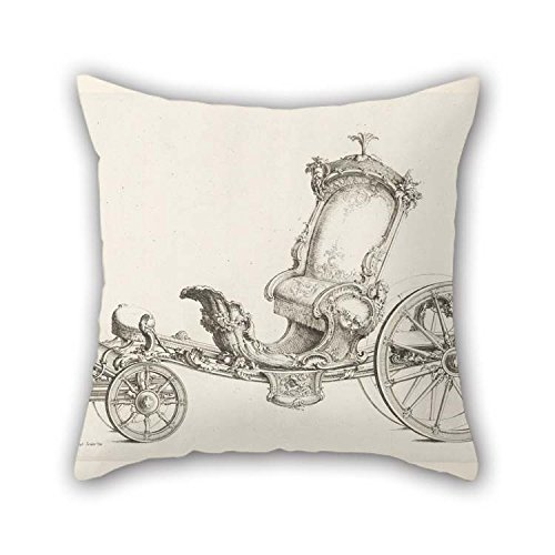 eyeselect Oil Painting Johann Michael Hoppenhaupt Ii - Design for A Cabriolet Throw Pillow Covers 20 X 20 Inches / 50 by 50 cm for Her Teens Girls Birthday Kids Room Dinning Room with Twin Sides
