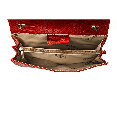 Trussardi Collection Damen Clutch Bag Rot