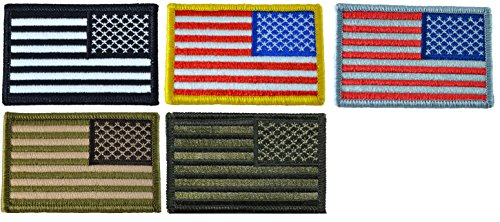 Set 5 Pcs. of Tactical Reverse USA Flag Patch 2