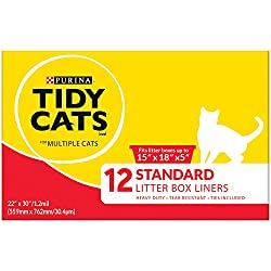 "Purina Tidy Cats Standard 22"" X 30"" with Ties Litter Box Liners - (6) 12 ct. Box"