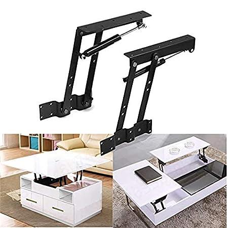 PRINDIY Bisagras Plegables de Mesa de t/é de Primavera Mecanismo Superior Mecanismo de Hardware Bisagra Plataforma de elevaci/ón Estante para Muebles 2 Piezas