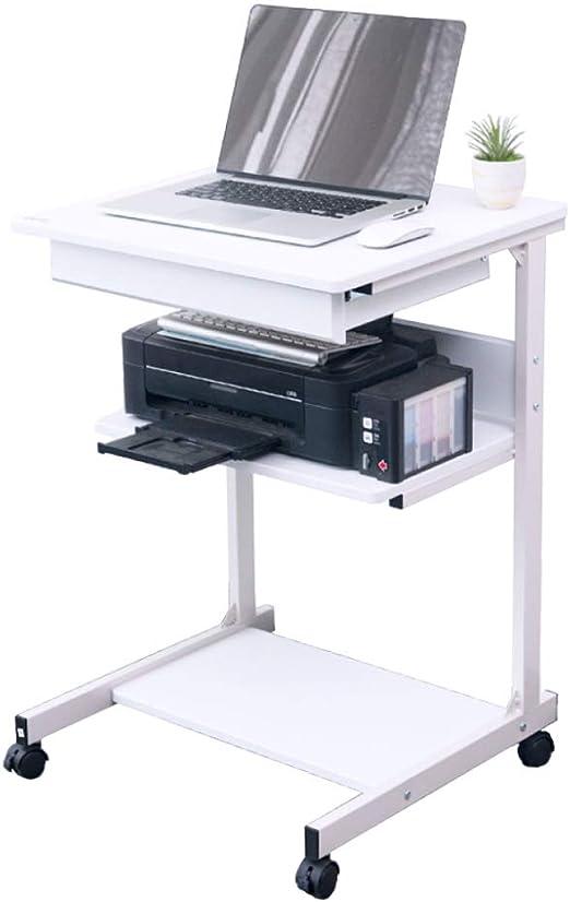 LIULIFE Escritorio De Computadora Móvil sobre Ruedas Mesa De PC De ...