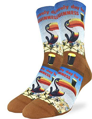 - Good Luck Sock Men's Lovely Day for a Guinness Toucan Socks - Shoe Size 8-13