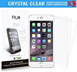 iPhone 6s plus/ 6 Plus Screen Protector **[ PACK OF 3 PIECES ]**, E LV Apple iPhone 6s plus/ 6 Plus CRYSTAL CLEAR HD Screen Guard for AppleiPhone 6s plus/ 6 Plus