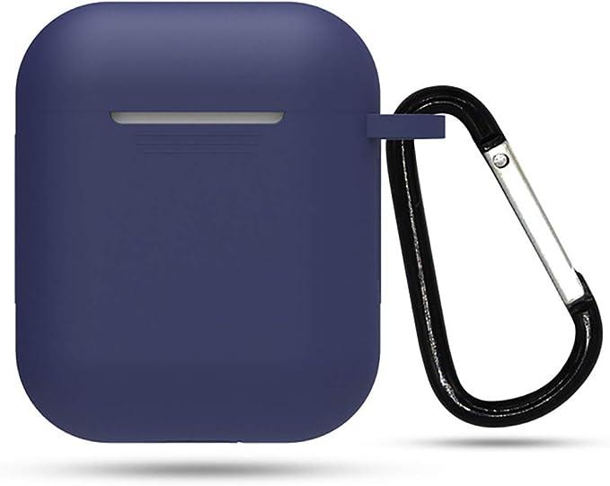 Image ofFunda de Silicona Xiaomi Mi True Wireless Earphones 2 Basic Cover para Estuche de Carga de, Silicone Skin Case, Resistente a Golpes y Arañazos, Ajuste para Xiaomi Mi Earphones 2 Basic (Azul)
