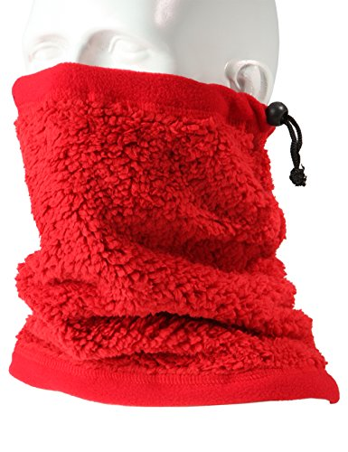 H2H SPORT Mens Winter Velboa Faux Fur Scarf Neck-Warmer RED ONESIZE (KMASC014)