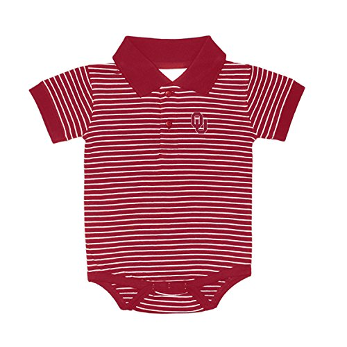 Oklahoma Sooners NCAA College Newborn Infant Baby Striped Golf Creeper (12 ()
