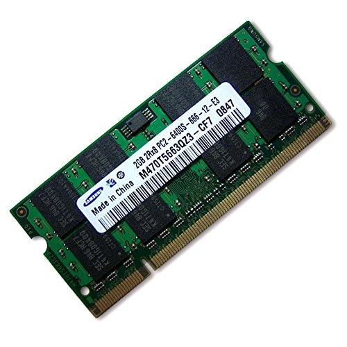 2.0GB (2048MB) Samsung Original PC2-6400 DDR2 800MHz SO-DIMM 200 Pin Memory Module - Accent Cs 5 Piece
