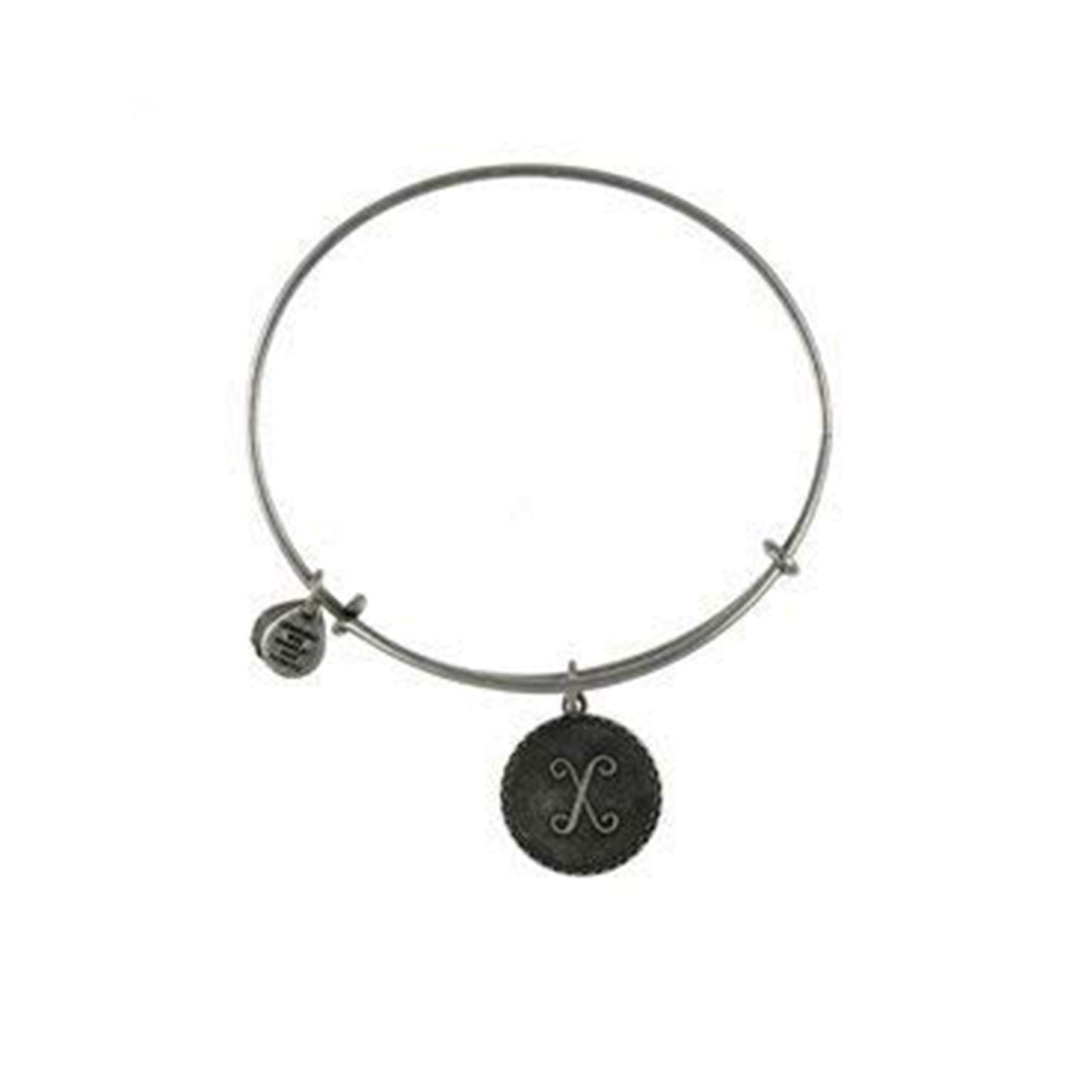 Authentic Alex and Ani Initial T Two Tone Sterling Silver Charm