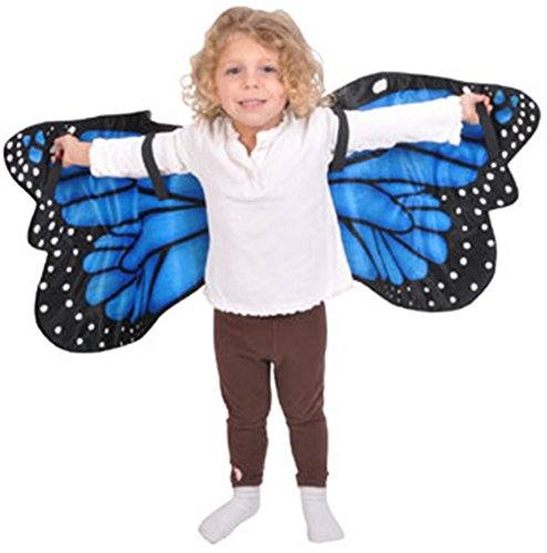 [Blue Morpho Butterfly Plush Costume Wings By Adventure Kids by RINCO] (Girls Bug Costumes)