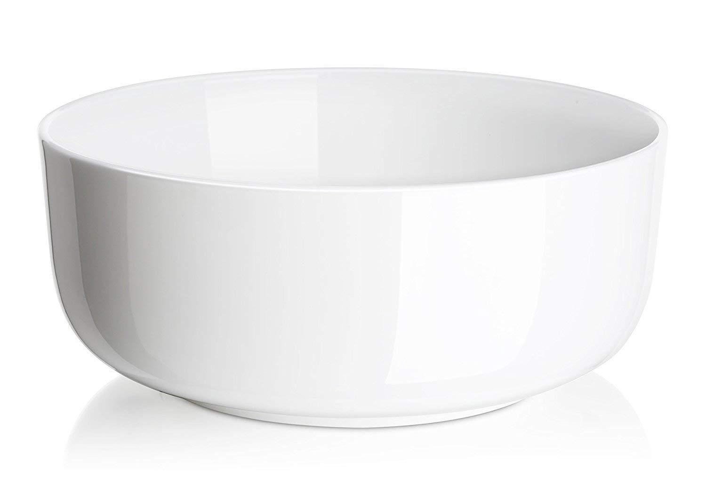 DOWAN 1.5 Quarts Porcelain Serving Bowl Set, Salad Bowls, 2 Packs