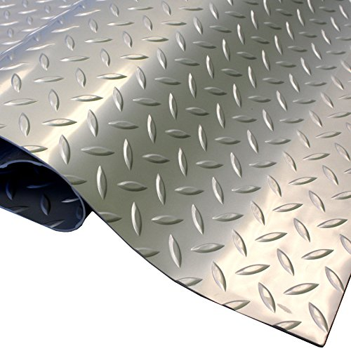 IncStores Standard Grade Nitro Garage Flooring (5' x 7.5', Diamond Stainless Steel) Roll Out Floor Protecting Mats by IncStores (Image #2)