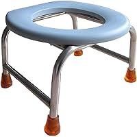 Toilettenstühle Nachtstuhl Stahl Kommode Stuhl-Camping WC-Duschstuhl-Leichte Toilette-wasserdichte Kissen-Slip Mat-Bearing Gewicht 100kg