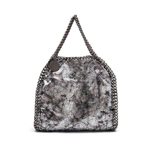 [SBM]SBM Limited Edition Women Shoulder bag Medium handbag (Black Bag Chain Shoulder Leather Link)