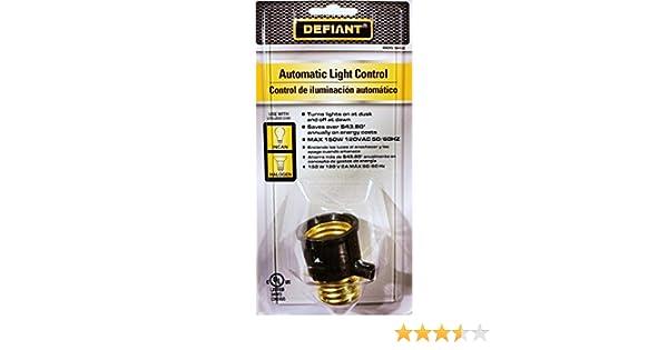Amazon.com : Large Base Dusk-to-Dawn Light Control, Black : Table Lamps : Garden & Outdoor