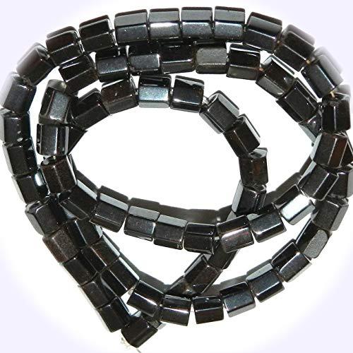 - New Metallic Black 5mm 6-Sided Column Tube Hematite Jewelry-Making Beads 15-inch DIY Craft Supplies for Handmade Bracelet Necklace