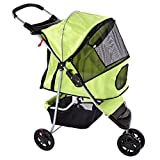 Green Pampered Pet Jogging Stroller for Small Dogs and Cats