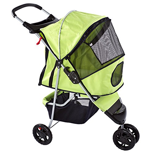 Discount Ramps Green Pampered Pet Jogging Stroller for Sm...