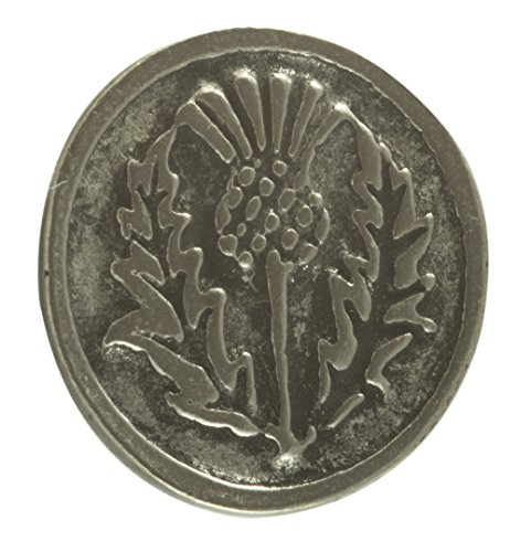 - Thistle Pewter Buttons - Card of 4 (5/8