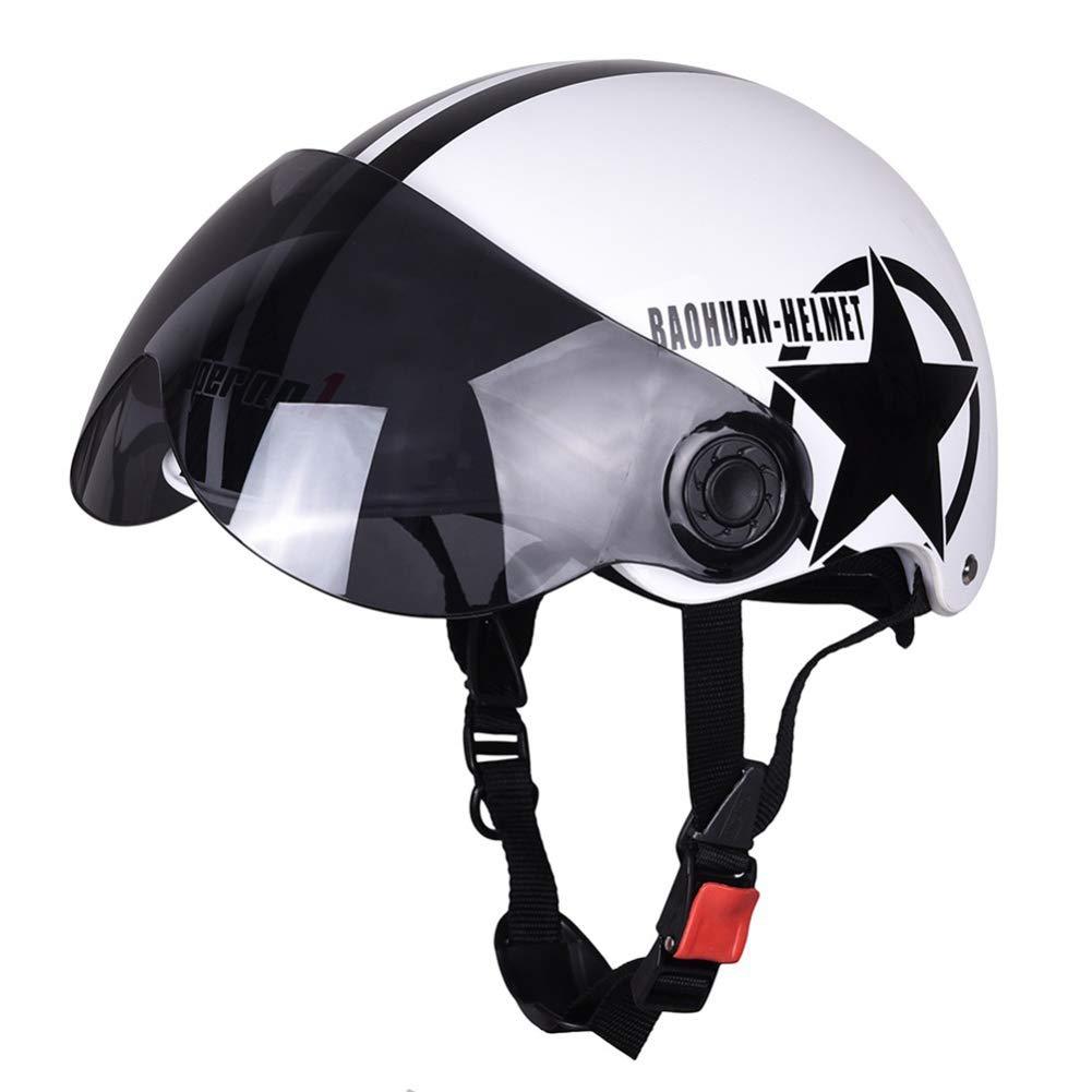 QAQ Helm Schutzhelm ABS Maske Motorrad Fahrrad Erwachsenen Cross Country Multicolor
