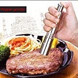 Mills - Portable Thumb Push Manual Pepper Grinder Stainless Steel Electric Salt Mill Spice Muller - Huge Turning Travel Mill Squeeze Dressing Held Black Gonzo Spice Japanese Kyocera Danis