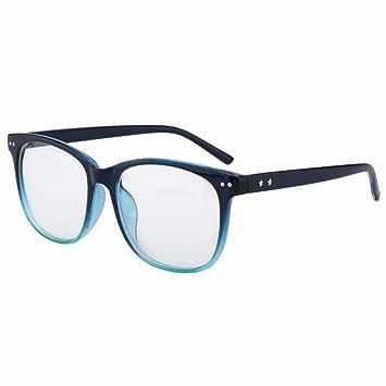 d28e1fec64b Lightweight Bifocal Reading Glasses +1.00 Strength D Shape Bifocals Mens  Womens Readers Blue Frames Spectacles